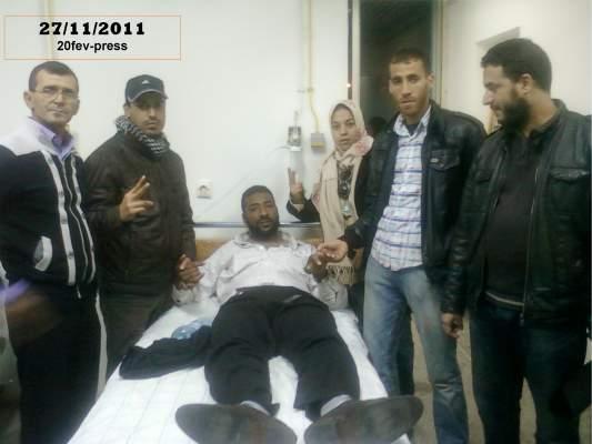 """Photo of أعضاء حركة 20 فبراير ستنكرون الاعتداء على """"جهاد أوفاراجي"""""""