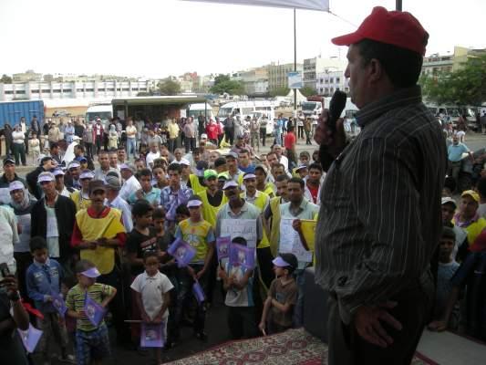 Photo of مسيرة الصمود بسلا توجه رسالة إلى بن كيران: البنان ماشي الوجبة الرئيسية عند المغاربة راه البنان وجبة رئيسية عند القرودة