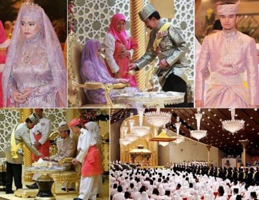 Photo of بالفيديو: حفل زفاف أسطوري لابنة سلطان بروناي