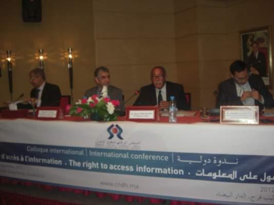 Photo of الدار البيضاء: وقائع من الجلسة الافتتاحية للندوة الدولية للحق في لوصول إلى المعلومات