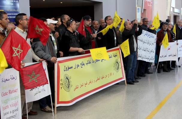 Photo of مطار محمد الخامس الدولي: وقفة احتجاجية لمستخدمي المكتب الوطني للمطارات