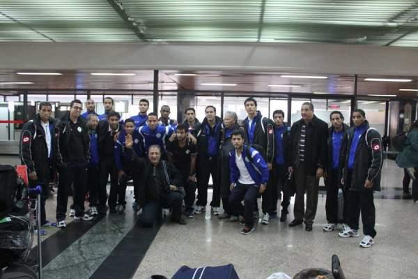 Photo of بالصور، فريق الرجاء الرياضي يعود إلى أرض الوطن
