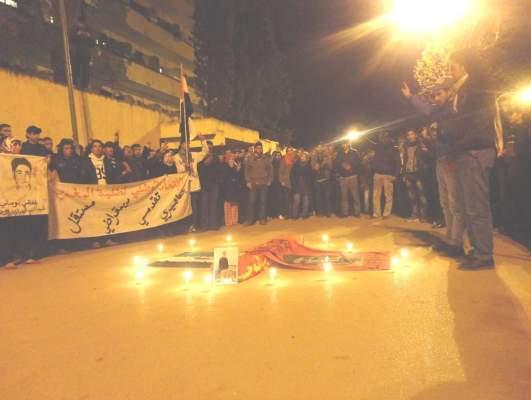 Photo of فاس: طلبة اليسار يخلدون ذكرى اغتيال الطالب أيت الجيد بمسيرة وجنازة رمزية