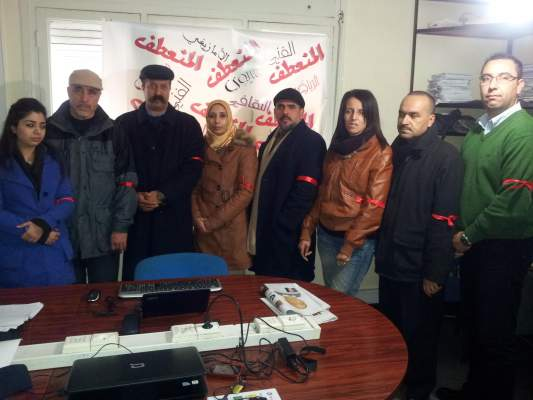 "Photo of صحافيو وصحافيات ""المنعطف"" يحتجون على جرمانهم من بطاقة الصحافة والقطار"