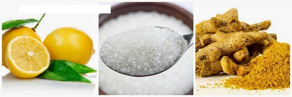 كوماج من السكر والحامض لتبييض وترطيب الركبتين