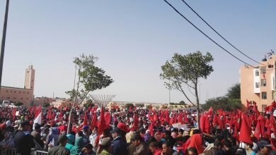 "Photo of العيون: خروج أزيد 150 مواطن للتنديد بتصريحات ""بان مكي مون"""