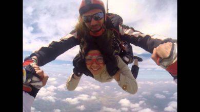 Photo of ليلى الحديوي تستعرض مهاراتها بالقفز في الهواء