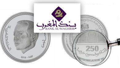 Photo of إصدار قطعة نقدية تذكارية من فئة 250 درهم بمناسبة عيد العرش