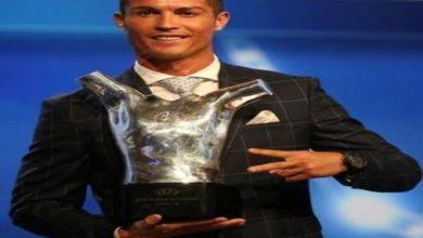Photo of شاهد لحظة اعلان كريستيانو رونالدو افضل لاعب في اوروبا