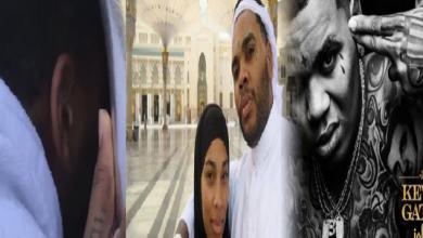 """Photo of فيديو.. مغني الراب الأمريكي """"كيفن جيتس"""" مع زوجته في مكة لأداء مناسك الحج"""