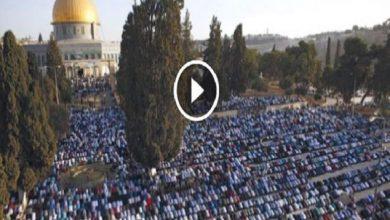 Photo of فيديو.. آلاف الفلسطينيين يؤدون صلاة العيد برحاب المسجد الأقصى