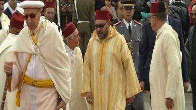Photo of لحظة وصول الملك لمسجد البطحاء بالدار البيضاء