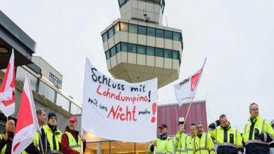 Photo of تعليق الإضراب بمطاري برلين من الأربعاء حتى بداية الأسبوع القادم