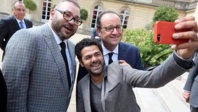 Photo of صورة: سيلفي خاص لجمال الدبوز مع الملك محمد السادس والرئيس الفرنسي هولاند