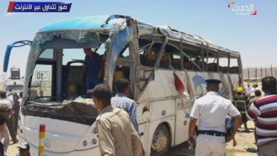Photo of مسؤول قبطي: 35 قتيلا في الهجوم عى حافلة الأقباط بالمنيا بمصر