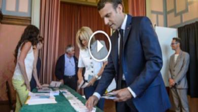 Photo of ماكرون يدلي بصوته في الانتخابات البرلمانية الفرنسية