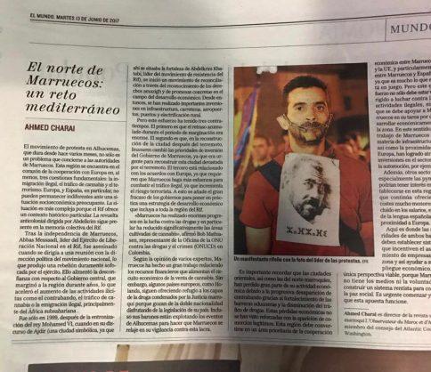 """أحمد الشرعي يكتب في """"إل موندو"""" : الشمال المغربي وإمكانيات الحياة (الرهان المتوسطي)"""