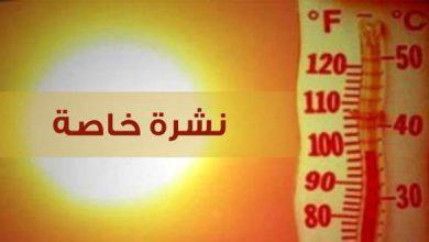 Photo of نشرة خاصة: موجة حرارة ابتداء من يوم غد الأربعاء في عدة مناطق من المملكة