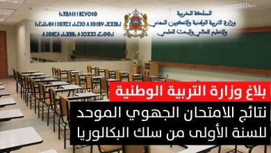 Photo of وزارة التربية الوطنية تكشف عن تاريخ الإعلان عن نتائج الامتحان الجهوي الموحد