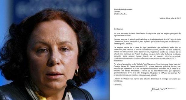 """وزيرة الخارجية الإسبانية السابقة آنا بلاثيو تنتقد تهجم صحيفة """"أ ب ث"""" عليها بسبب مشاركتها في ندوة بالمغرب"""