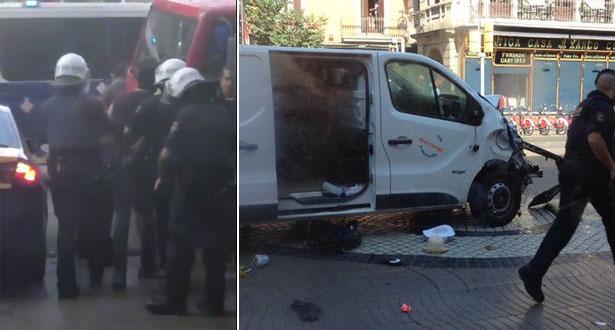 فيديو: لحظة اعتقال المغربي المشتبه به في الاعتداء الإرهابي وسط برشلونة