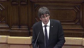 Photo of رئيس كاتالونيا يقترح تعليق إعلان الانفصال عن اسبانيا
