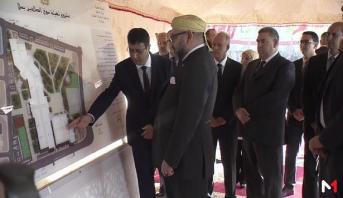"Photo of الملك محمد السادس يعطي انطلاقة مشروع تهيئة ""سوق الصالحين"" بسلا"