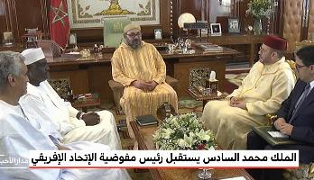 Photo of فيديو: الملك محمد السادس يستقبل رئيس مفوضية الإتحاد الإفريقي