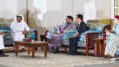 Photo of الملك محمد السادس يتباحث بالدوحة مع أمير قطر