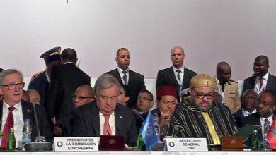 Photo of الملك محمد السادس يصل إلى مكان انعقاد القمة الخامسة للاتحاد الإفريقي الاتحاد الأوروبي بأبيدجان