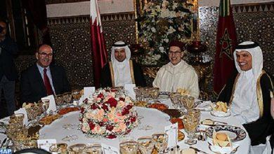 Photo of الملك محمد السادس يقيم مأدبة عشاء على شرف رئيس مجلس الوزراء، وزير الداخلية القطري