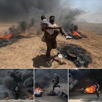 ارتفاع عدد الشهداء الفلسطينيين إلى41 شهيدا و1800 جريحا