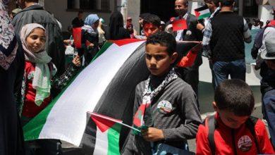 Photo of مسيرة شعبية بالرباط نصرة للقضية الفلسطينية