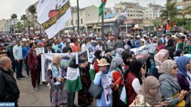 Photo of مسيرة شعبية في الدار البيضاء تضامنا مع الشعب الفلسطيني