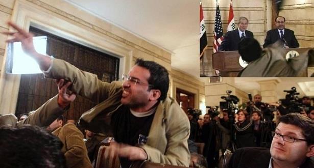 """راشق """"جورج بوش"""" بالحذاء يترشح للانتخابات العراقية"""