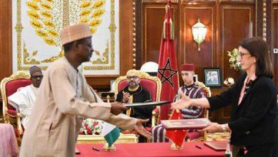 Photo of نص البيان المشترك عقب الزيارة الرسمية لرئيس نيجيريا للمغرب
