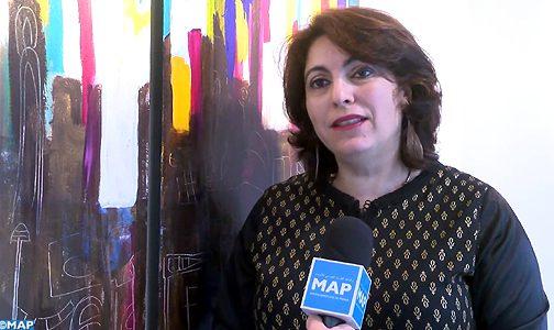 الفنانة التشكيلية المغربية ليلى بنحليمة توقع ببروكسل على لوحات تنشد تحرر المرأة