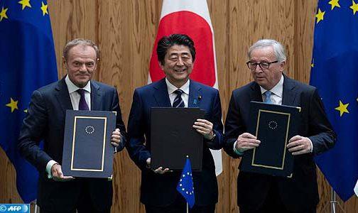 """الاتحاد الأوروبي واليابان يوقعان اتفاقا """"تاريخيا"""" للتبادل الحر"""