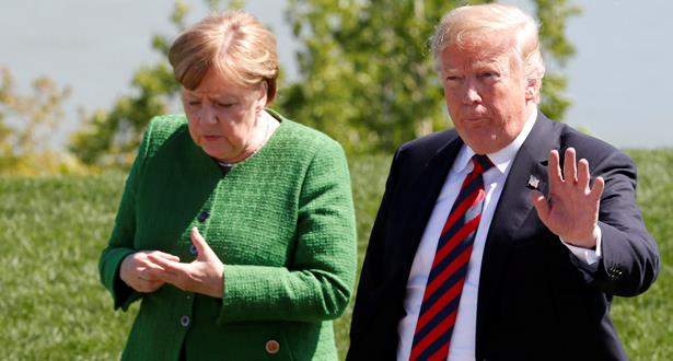 ترامب يشن هجوما حادا على ألمانيا قبل قمة الاطلسي وميركل ترد