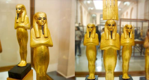 """محاولة فاشلة لتهريب تمثال ذهبي """"فرعوني"""""""