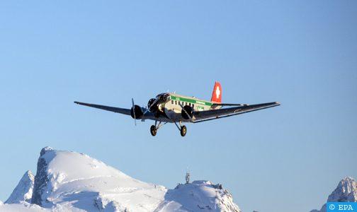 فيديو: 20 قتيلا في حادث تحطم طائرة عسكرية سويسرية قديمة