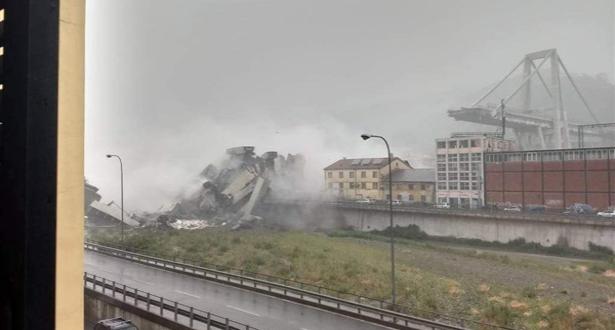 فيديو: ارتفاع عدد ضحايا انهيار جسر جنوة بإيطاليا إلى 30 شخصا