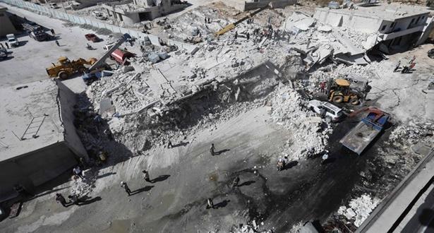 سوريا: 69 قتيلا في انفجار مستودع للأسلحة بإدلب حسب حصيلة جديدة