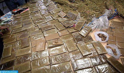 طنجة .. إحباط محاولة تهريب 480 كيلوغراما من مخدر الشيرا على متن شاحنة للنقل الدولي