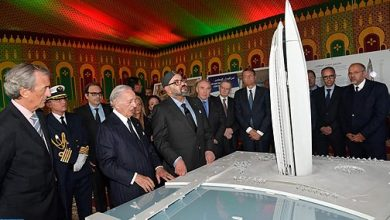 """Photo of الملك يترأس حفل الإطلاق الرسمي لأشغال بناء """"برج محمد السادس"""" رمز الإقلاع الاقتصادي لضفتي أبي راقراق"""