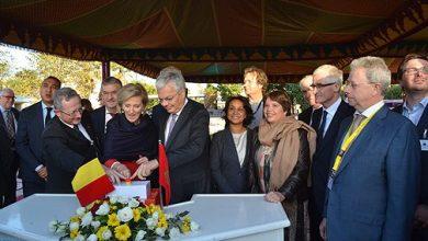 """Photo of الأميرة """"أستريد"""" تضع الحجر الأساس لبناء السفارة الجديدة لبلجيكا بالرباط"""
