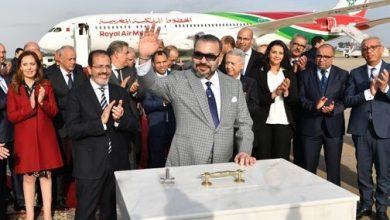 Photo of جلالة الملك يضع الحجر الأساس لمحطة جوية جديدة بمطار الرباط