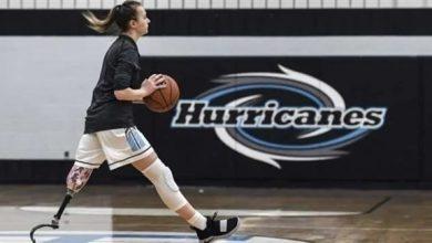 Photo of لاعبة محترفة لكرة السلة رغم فقدانها لإحدى ساقيها