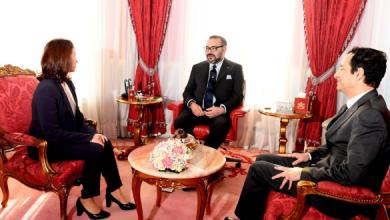 Photo of الملك يستقبل الرئيسة الجديدة لهيأة الإدارة الجماعية لصندوق الحسن الثاني للتنمية الاقتصادية والاجتماعية