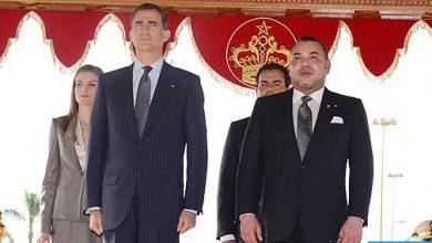 """Photo of العاهل الإسباني الملك فيليبي السادس والملكة """"ضونا"""" ليتيثيا يحلان بالمغرب"""